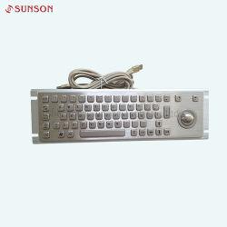 Deutsches Lay-out-metallische volle Tastatur verwendet auf Selbstservice-Informations-Kiosk