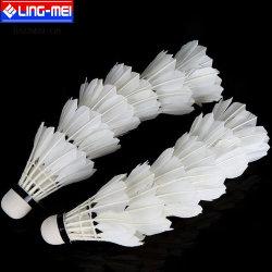 Clase resistente de alta calidad un vaivén de la formación de plumas de ganso Badminton Shuttlecock gallos