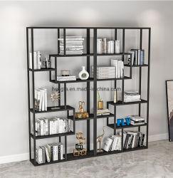 Prateleira de armazenamento em casa moderna Estante Biblioteca Estante de ferro de mobiliário de parede
