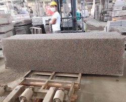 중국식 천연 석재 슬랩 타일 광택/플라미 로사 포리노 핑크 화강암 옥외 포장용 벽면 바닥용