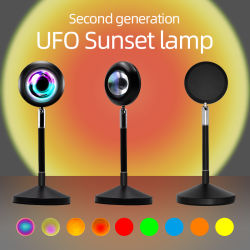 Hot Sale RGB 16 kleuren afstandsbediening Sleeping Night Light Projector lamp bij zonsondergang