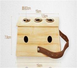Contenitore di legno di Moxibustion Moxa del foro di alta qualità tre