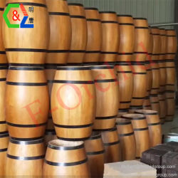 배럴 포도주 배럴 배럴 제조자 포도주 진열대는 도매 나무로 되는 큰 배럴 포도주 배럴 소매점 전시 정착물을 주문을 받아서 만들었다