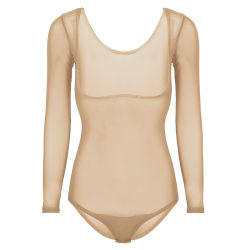 Womens Mesh de voir à travers le buste ouvert Léotard Body ventre Dancewear
