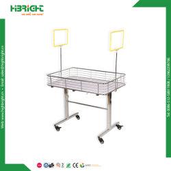 Wire Mesh pliable Table promotionnel Bacs de vidage
