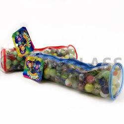 Caixa de lápis Toy, mármores de alta qualidade, os brinquedos das crianças, esfera de vidro, saco de PVC configurado