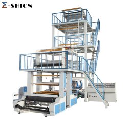 Wenzhou Ruian PE LDPE HDPE PLA plastica biodegradabile strato singolo Estrusore a doppio strato a tre strati ABA Film Blowing Machine