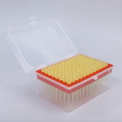 실험실 용품 200uL 필터 플라스틱 멸균 의료 피펫 팁