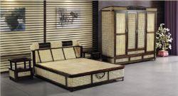 Chambre à coucher meubles en rotin / rotin naturel Bed & armoire / Fabricant de meubles en rotin / Home Meubles Meubles /Produit écologique (FH-W1-01-1.8)
