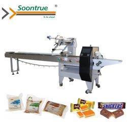 Os doces automática/Chocolate/nutricional bares/pão/Wafer Pão alimentar fluxo do Rolo de ovos da máquina de embalagem