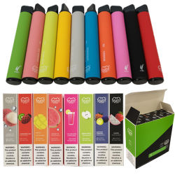 Marchio su ordinazione che impacca 24 soffi portatili della sigaretta elettronica liquida della spremuta di sapore E più Vape a gettare
