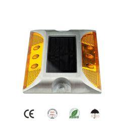 Lumière clignotante à LED rouge/jaune/verte/bleue/blanche étanche solaire Réflecteur de goujon de route à œil Cat Power