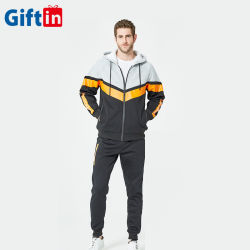 2020 2 morceau survêtement Set plaine de football masculin Sweatsuit Hoodie Plus Size zip jusqu'Big Tall HOMMES vêtements Costumes de jogging