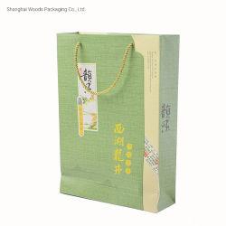 Papelão Cinza personalizado com impressão a cores de fantasia com pega para mercadorias Pacakging Saco de papel