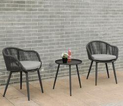 Pátio de lazer Jardim Mobiliário de exterior apresenta cadeiras de vime metal mesa de café