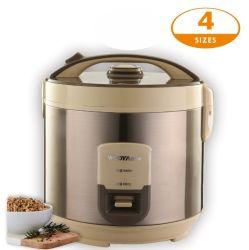 Electrodomésticos de cocina con un botón de conmutación automática de la cocina para mantenerlo caliente 20 minutos arroz Cocina con la palanca de bloqueo de seguridad infantil en la tapa