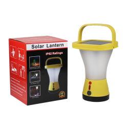 Camping Sos recargables de 360 grados de la luz solar linterna de emergencia para el teléfono cargando
