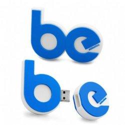 محرك أقراص USB محمول بلاستيكي الشكل Letter مبتكر يتوفر أي حرف