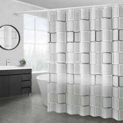 Novo design moderno impresso simples cortina do chuveiro para banho