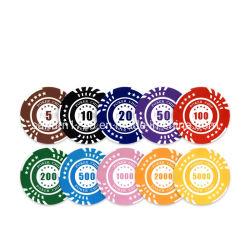 Оптовая торговля 40 мм 5 звезд глиняные лазерный наклейку пользовательский дизайн азартные игры в покер клуб микросхемы для продажи