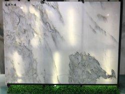الصين طبيعيّة [شندونغ] [لندسكب بينتينغ] بيضاء [بووكمتش] رخام حجارة لوح لأنّ تلفزيون خلفيّة