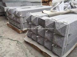 自然な石造りの白い真珠G603中国の灰色の花こう岩のCurbstoneかペーバーまたはKerbstoneまたは柵