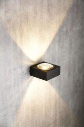 Modern auf und ab quadratische Wand-Aluminiumlampe mit Kontaktbuchse G9 (MB-11866)