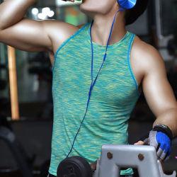 製造業者のEcoの顧客用マルチカラー人のための乾燥した適合の体操のスポーツのタンクトップ