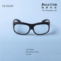 CHP 10600nm, lunghezza d'onda protettiva 9000-11000nm degli occhiali di protezione di sicurezza del laser degli occhiali di protezione del laser, disponibile per 10600nm, applicazione: Laser del CO2, Ce En207