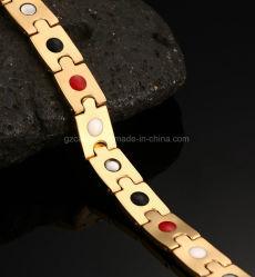 B10 - Золотой браслет здравоохранения из нержавеющей стали с здравоохранения камня для человека, специализированные