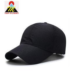 Monter les chapeaux de sports sec personnalisés casquettes avec trous Laser
