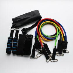 11ПК латекс сопротивление полосы фитнес-осуществлять эластичные трубки профессиональной подготовки