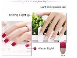 La luz cambiante de Gel Nail Polish, cambiando el Gel de Color