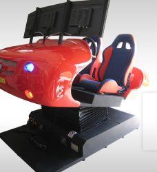 Attraktiver Doppelsitz-roter Auto-Simulator für das Laufen des Spiels