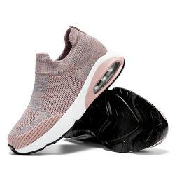 Новые женские полет с воздушной подушкой вязки спорта дышащий легких обычных Sneaker Pimps производителя прямой продажи акций под управлением обувь