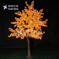 Новый дизайн 2.8m горячая продажа оформление внутри помещений LED волокнистую елки с праздником фонаря освещения дерева