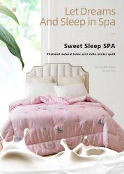 Látex natural Planta Quilt Cashmere Feather Velvet quente espessadas solteiro e casal cama de hotel de estilo de Inverno