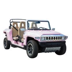 4つのシートが付いているロマンチックなピンクの溶接のTourisimの小型ゴルフ電気自動車