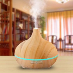 300ml hölzerner gefälschter heller wesentliches Öl-Aroma-mit Ultraschalldiffuser (Zerstäuber) des Holz-7 LED