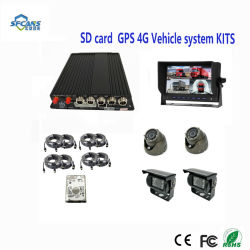 H. 264 Carte SD de 4 canaux de chariot mobile Véhicule Kits DVR