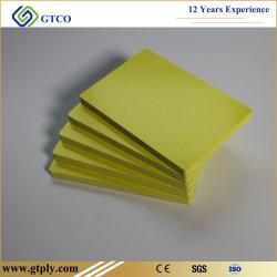 Желтый WPC плата WPC системной платы из пеноматериала с ПВХ изоляцией из пеноматериала системной платы
