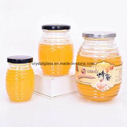 350ml 500ml en verre pot de miel verre d'emballage alimentaire