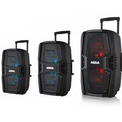 """Dual 6.5"""" alimentado por bateria Digital de Áudio Subwoofer Amplificador Karaoke PA Carrinho colunas Bluetooth"""
