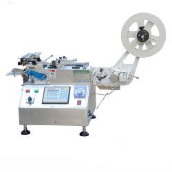 (JQ-3010) высокая скорость горячей и холодной небольшого размера уход за одеждой полиэстер атласная лента этикетки режущей машины