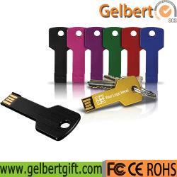 Échantillon gratuit clé en métal en forme de lecteur Flash USB 2.0