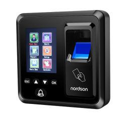 Pantalla en color TFT de 2,4 pulgadas RFID Autoservicio de la tarjeta de red Informe biométrico Autónomo Lector de tarjetas inteligentes con USB