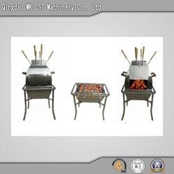 Grande stufa del BBQ del carbone di legna dell'acciaio inossidabile con la griglia (uso della parte esterna)