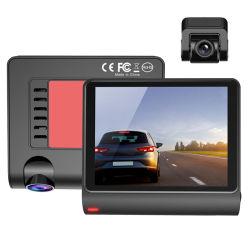 3.5inch車DVRのカメラHD 170度の広角のダッシュボードのカメラのレコーダー三方記録夜間視界の自動車運転のレコーダーのバックミラーの運行