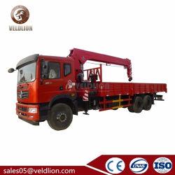 Elevatore idraulico 8 10 di Dongfeng Isuzu Foton camion telescopico mobile della gru dell'asta montato camion da 12 tonnellate con piegare la gru diritta dell'asta dell'articolazione
