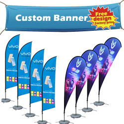 Wholesale China Custom Fabric Sublimation Roll up Flag Banner Silk Screen Printing Vinyl PVC Flex Birthday Advertizing Flying Banner for Promotion